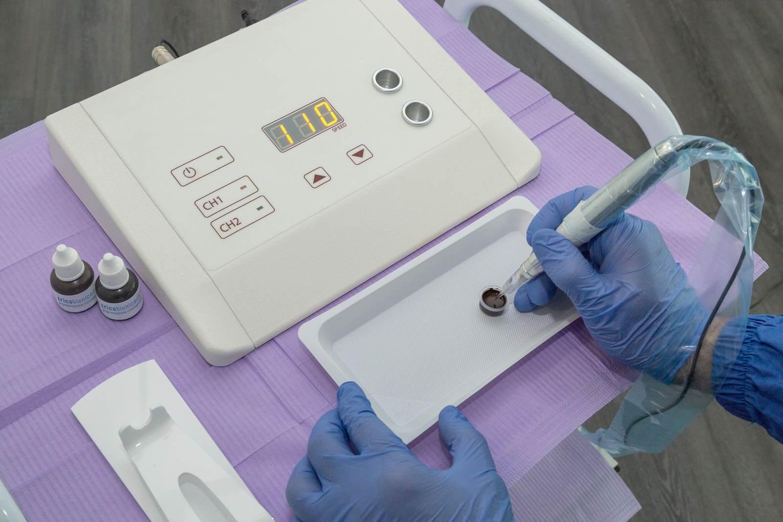tricopigmentazione capelli tecnologia strumenti